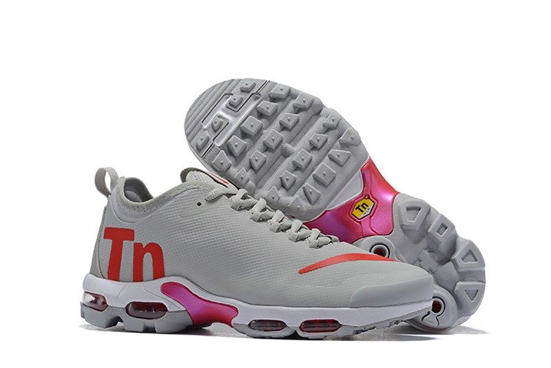 uk availability 91d60 fc1ff Hot Selling Nike Air Max Plus TN Ultra SE Men's Grey-Red Cushioning ...