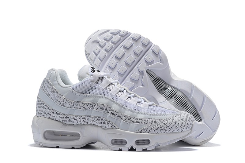 fae9f4248a3a4e Mens Size Nike Air Max 95 Just Do It Running Shoes AV6246-100 Pack White For  Online Sale