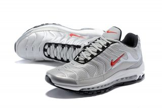 factory price 19f9f c56a2 Most Popular Nike Air Max 97 Plus Men s Metallic Silver Gym Red Running  Shoes Sneakers