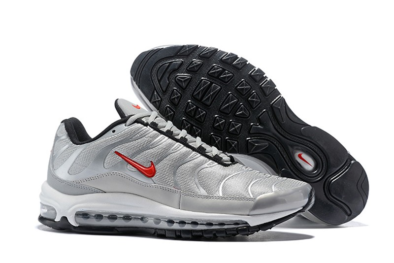 Most Popular Nike Air Max 97 Plus Men s Metallic Silver Gym Red ... db6d6cec2