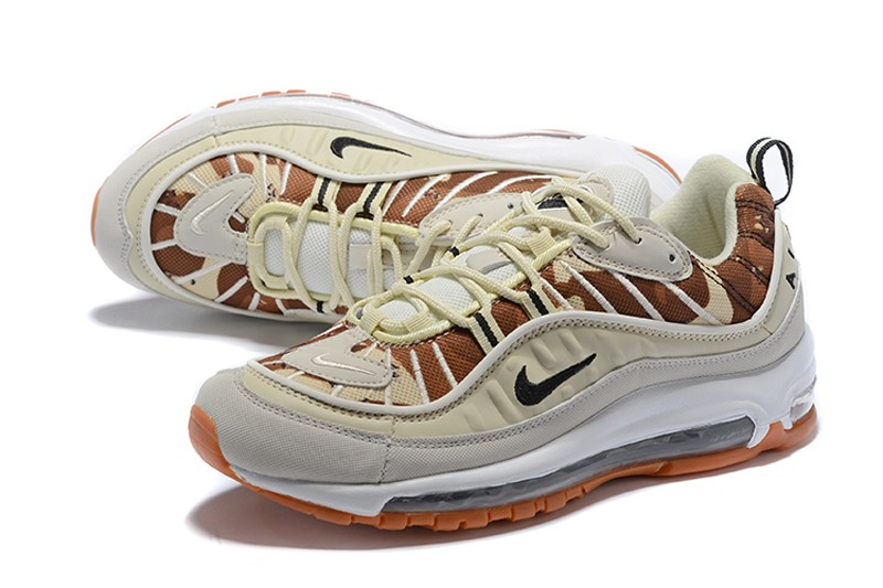 New Arrival Nike Air Max 98 Grey White Brown Men S Running Shoes