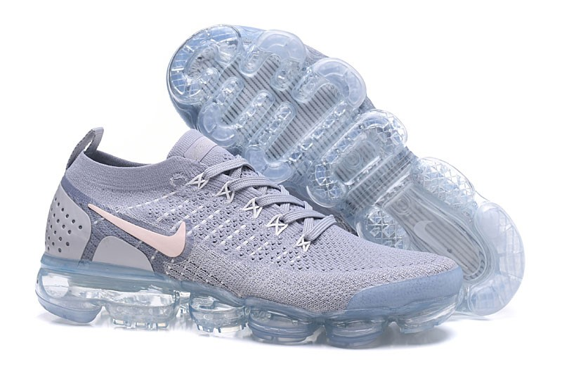 a7db6cfd7a55c New Designer Nike Air VaporMax Flyknit 2.0 White Grey Running Shoes ...