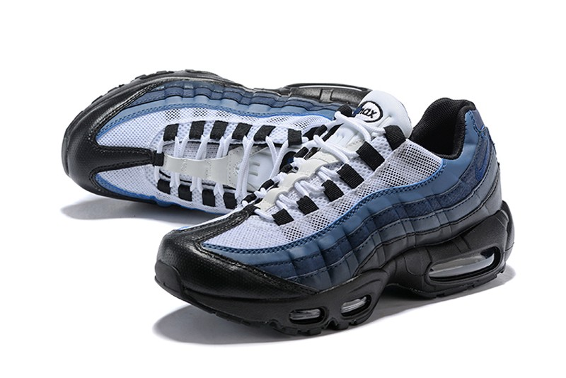 new product 52ffb 5e245 New Release Nike Air Max 95 Men's Running Shoes 749766-028 Black/Navy  Blue-Laser Blue-White