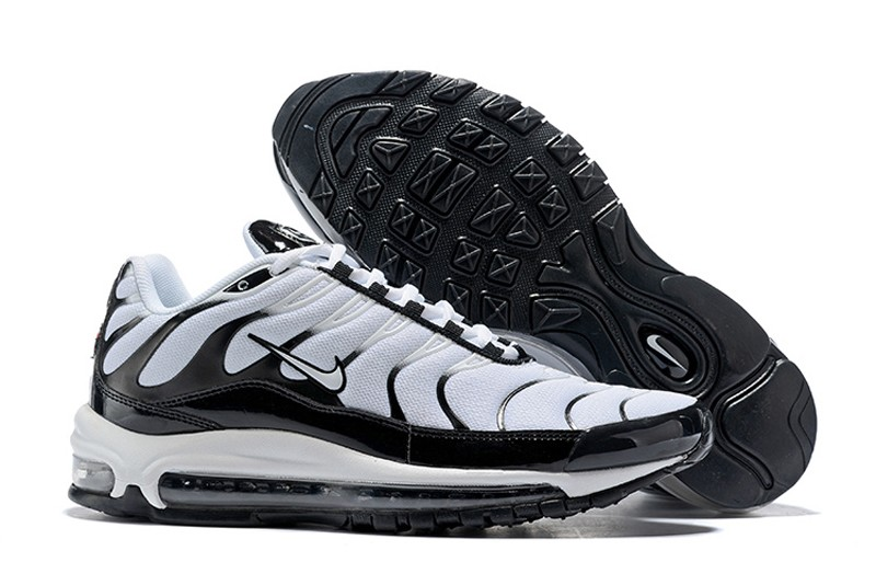 New Release Nike Air Max 97 Plus Men s Black White White Black ... 91315da77
