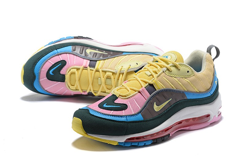 0c4612fa92 ... best price new release nike air max 98 dark blue pink yellow 62558 e875c