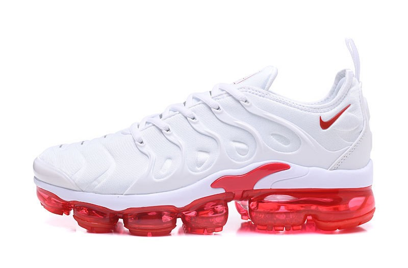 New Release Nike Air Vapormax Plus Tn White/Red Men's Casual Trainers  Running Shoes