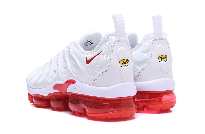 buy cheap df2e7 f3274 New Release Nike Air Vapormax Plus Tn White/Red Men's Casual Trainers  Running Shoes