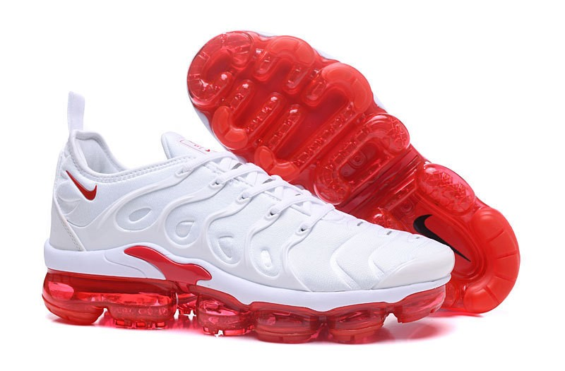 buy cheap 14d75 62964 New Release Nike Air Vapormax Plus Tn White/Red Men's Casual Trainers  Running Shoes