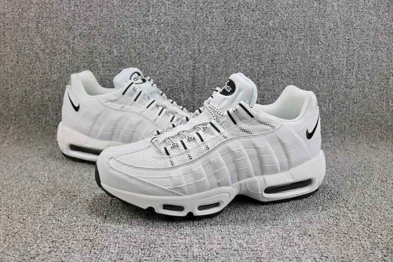 Nike Air Max 95 609048-109 White Black Men s 2018 New Style Sneakers  Running Shoes 8ccbf6f5e