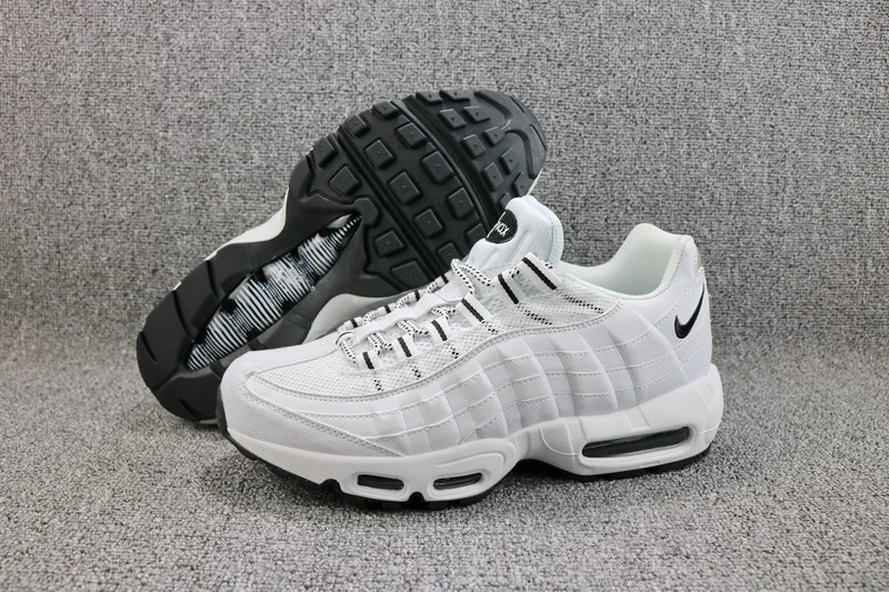 huge selection of fb559 f7cc1 Nike Air Max 95 609048-109 White/Black Men's 2018 New Style Sneakers  Running Shoes