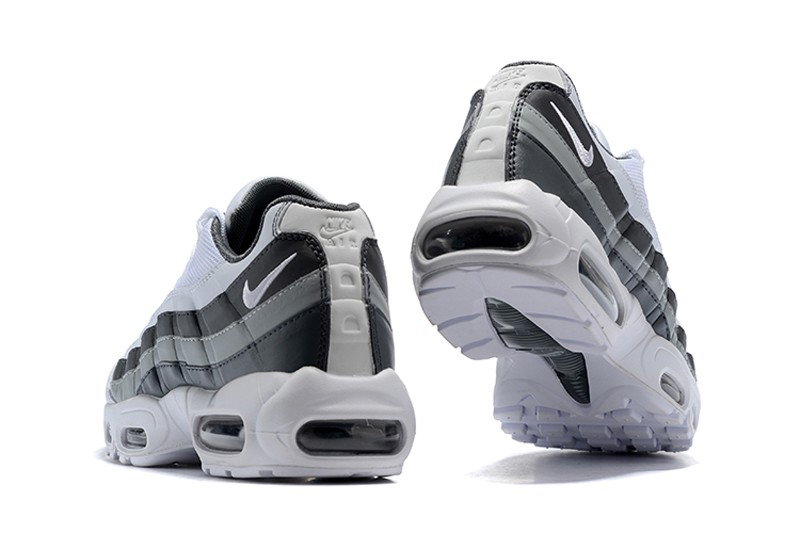 Nike Air Max 95 749766 105 Men's WhiteBlack Wolf Grey 2018 New Arrival Running Shoes