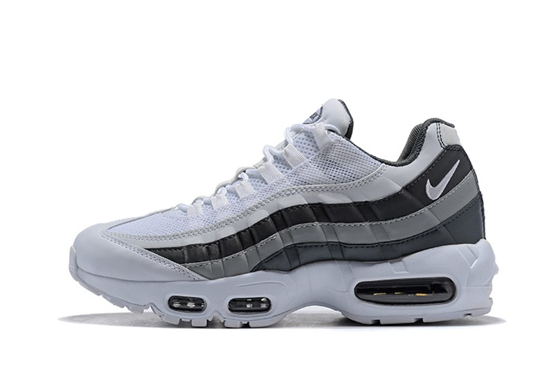 buy online a40b1 6e424 Nike Air Max 95 749766-105 Men's White/Black-Wolf Grey 2018 New Arrival  Running Shoes