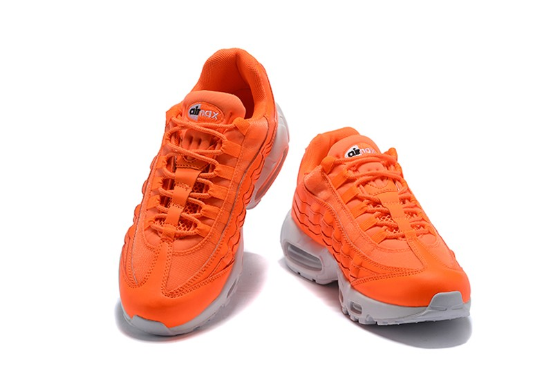 "Nike Air Max 95 ""Just Do It"" AV6246-800 Total Orange White-Black Men s  Newest Running Shoes 11f4bb9c4"