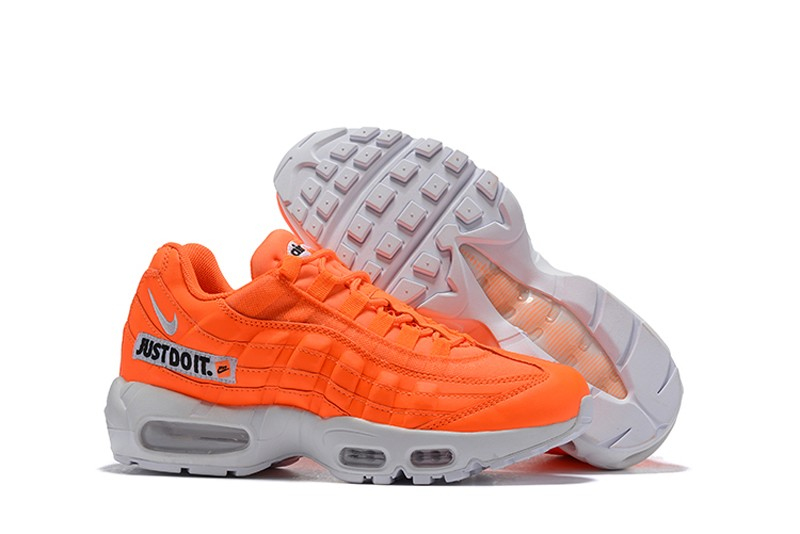 "76bd4862abe6b Nike Air Max 95 ""Just Do It"" AV6246-800 Total Orange White-Black Men s  Newest Running Shoes"