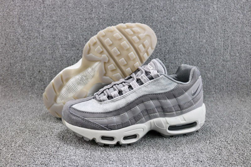 Nike Air Max 95 LX Gunsmoke AA1103-003 Men s-Women s Grey Suede Leather Running  Shoes f9d4ca8b1
