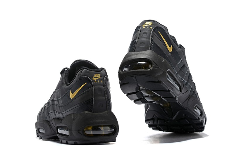 e00d807f1d6c9 Nike Air Max 95 Men s Black Metallic Gold Running Shoes Trainers ...