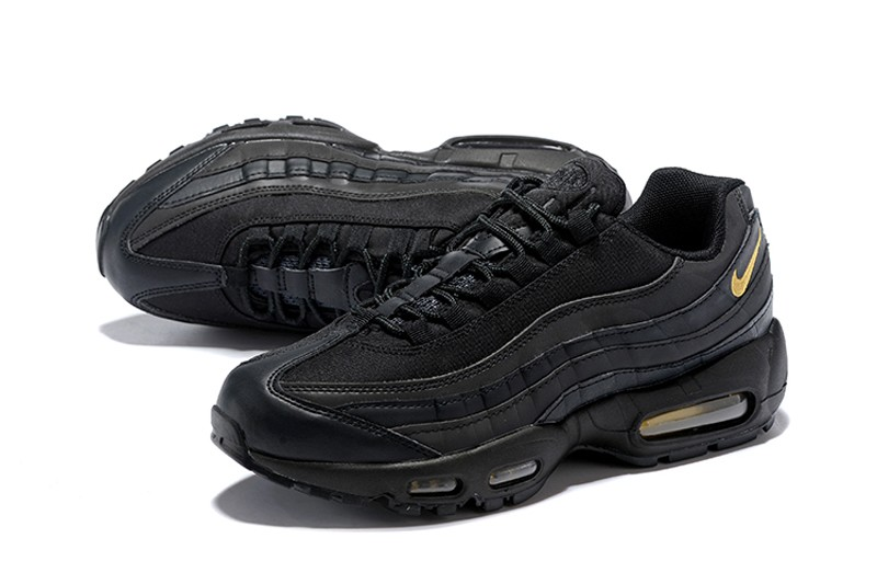 ebb228f13b48 Nike Air Max 95 Men s Black Metallic Gold Running Shoes Trainers ...