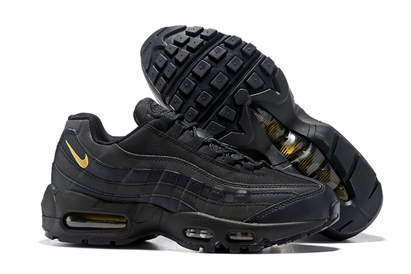 fa46e28c42 Nike Air Max 95 Men's Black/Metallic Gold Running Shoes Trainers 924478-003  ...