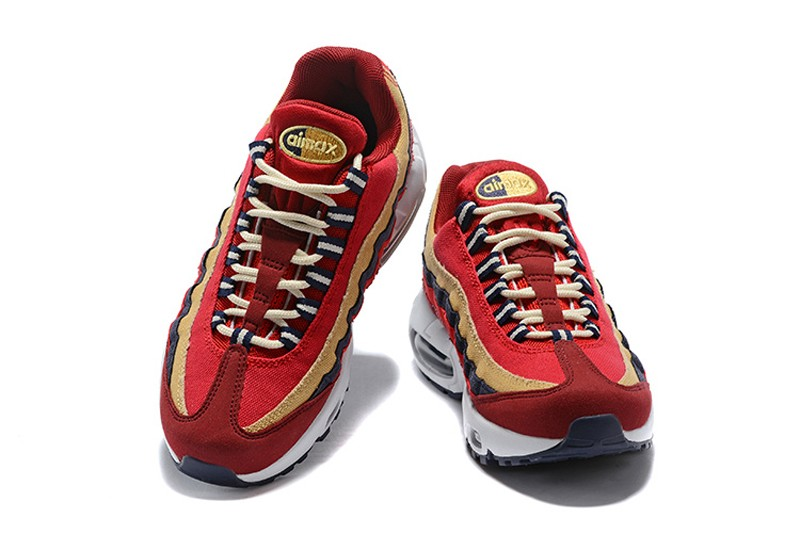 93677fd4eac Nike Air Max 95 Red Crush Provence Purple 538416-603 Men s-Women s ...
