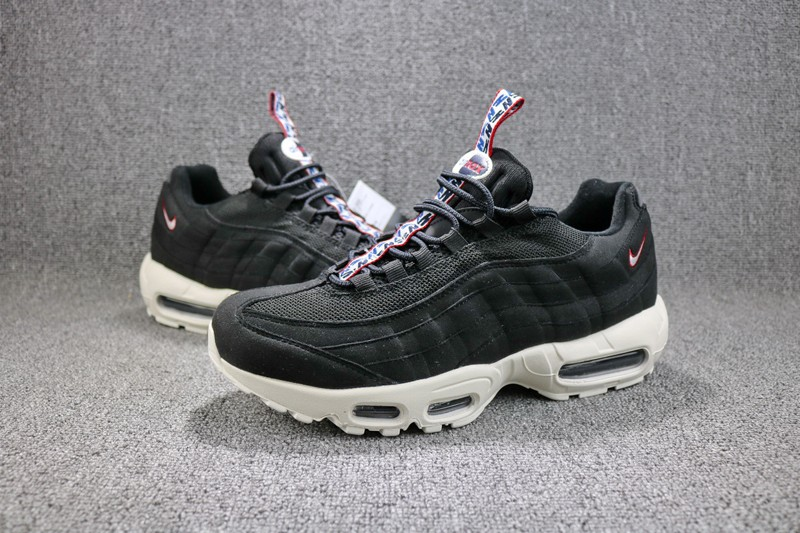 Nike Air Max 95 TT AJ1844-002 Black Red-Blue Neutral Running Shoes Free  Shipping 3fd2f33a7