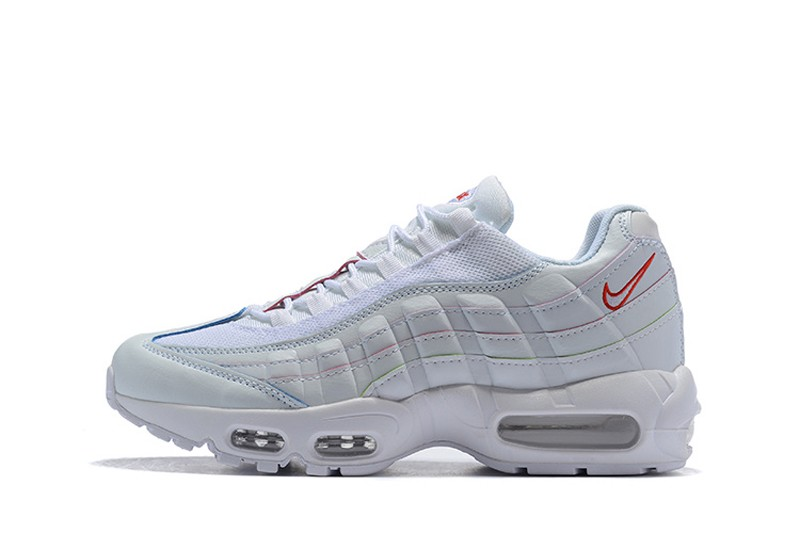 new style 16547 af97b ... Nike Air Max 95 White Red-Blue Men s-Women s .