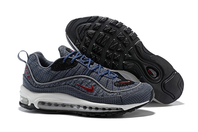 new concept f5111 e9abf Nike Air Max 98 924462-400 Thunder Blue/Team Red-Diffused Blue Neutral  Running Shoes