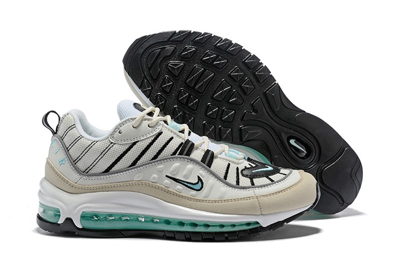 bb50ae1386f Nike Air Max 98 Sail Igloo-Fossil-Reflective Silver AH6799-105 Men s ...