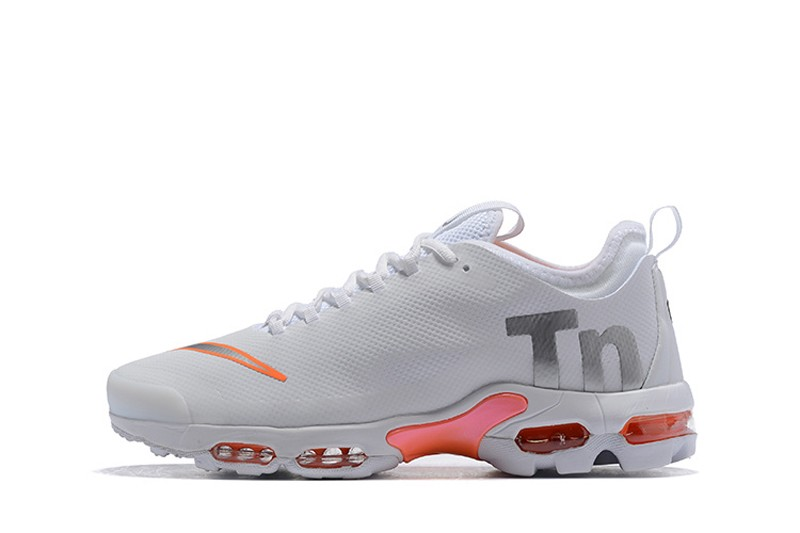 timeless design 424df e984d Nike Air Max Plus TN Ultra SE AQ0242-100 White/Orange Neutral Running Shoes  Free Shipping