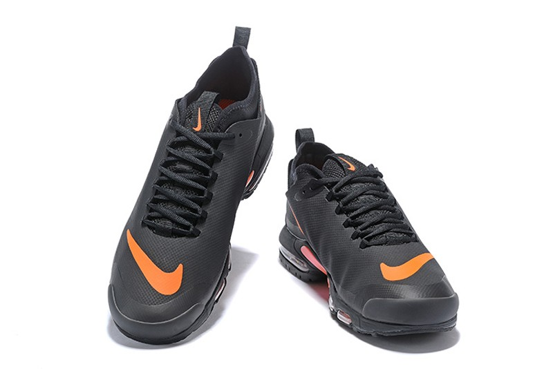 new style bf547 89c08 Nike Air Max Plus TN Ultra SE Black/Orange Running Shoes Sneakers Hot Sale  AQ0242-001