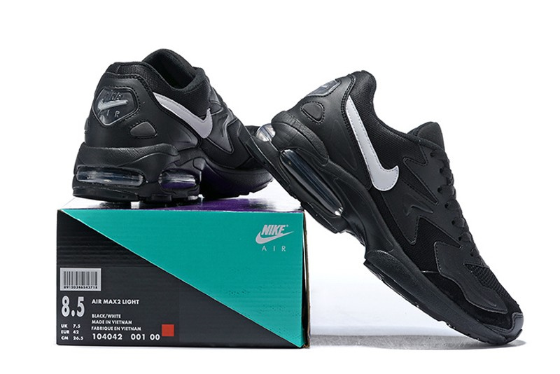 c5b253648b092 Nike Air Max2 Light 104042-001 Men's Light Black-White Running Shoes ...