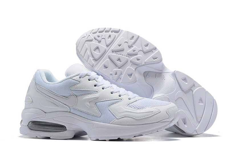 the best attitude 1a4ba 0920e Nike Air Max2 Light 104042-100 White-White Men's Cushioning Running Shoes  Free Shipping