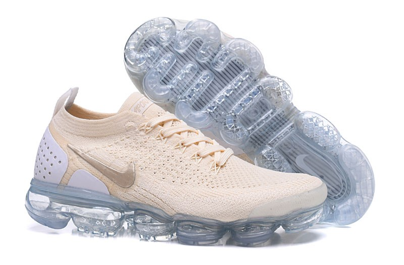 212fe523d6f2 Nike Air VaporMax Flyknit 2.0 942843-201 Neutral Running Shoes Light Cream  White-Gold