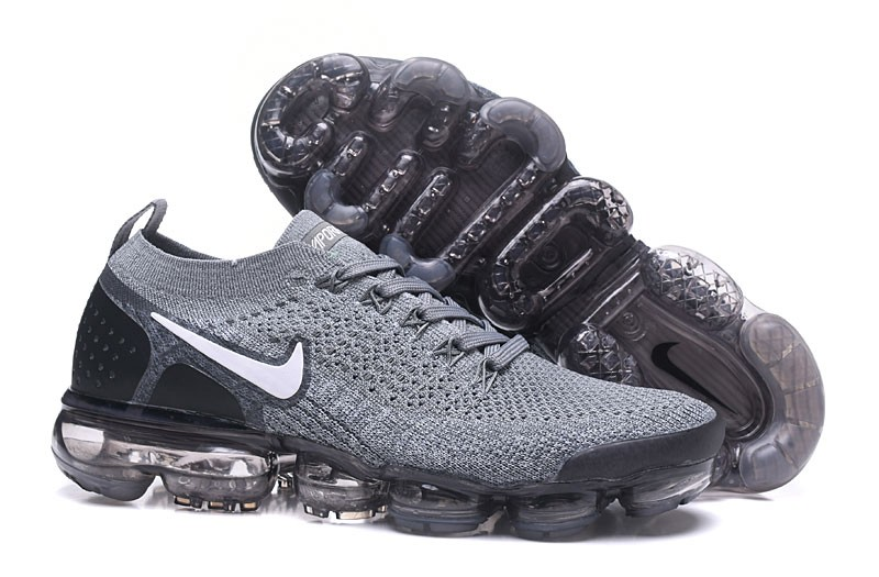 best service 87aed ea2e4 Nike Air VaporMax Flyknit 2.0 Men's Running Shoes 942842-502 Wolf  Grey/White-Black Online Sale