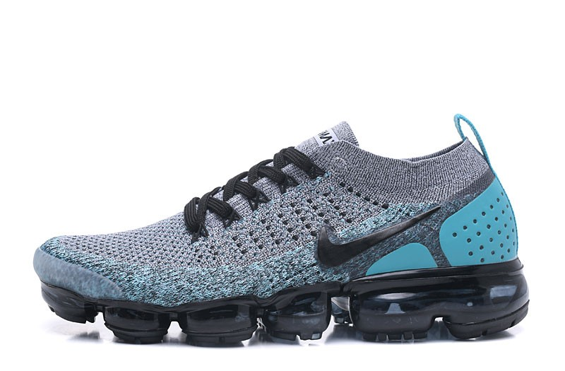 45d8c0315095a Nike Air VaporMax Flyknit 2.0 Neutral Running Shoes 942842-104 Black Dusty  Cactus-Hyper Jade