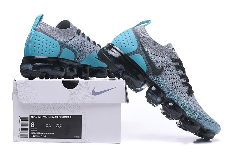 6eef92cf6ace Nike Air VaporMax Flyknit 2.0 Neutral Running Shoes 942842-104 Black Dusty  Cactus-Hyper Jade