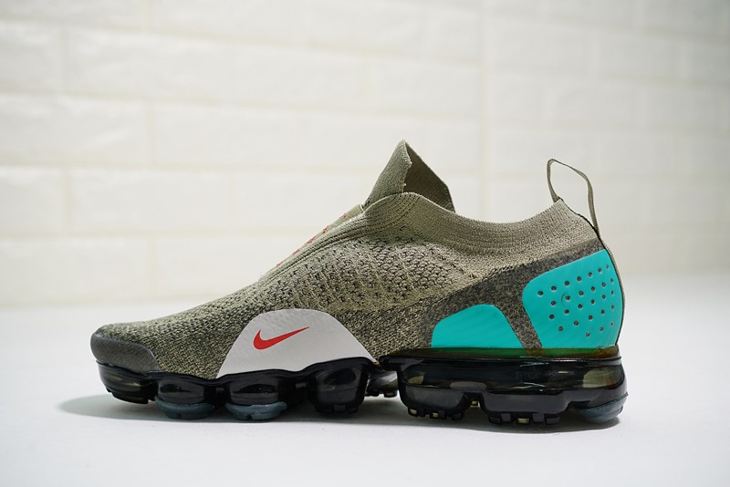 e7e6901006e27 Nike Air VaporMax Moc 2 Men s Neutral Olive Habanero Red New Style Running Shoes  AH7006-200