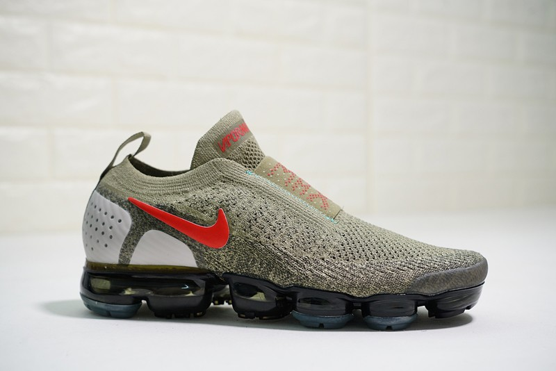 Nike Air VaporMax Moc 2 Men s Neutral Olive Habanero Red New Style Running Shoes  AH7006-200 a3dde293f