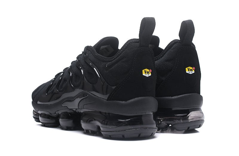 the best attitude 0bf8d 3cfe9 Nike Air Vapormax Plus Tn 924453-004 Men's-Women's Triple Black Jogging  Running Shoes For Sale