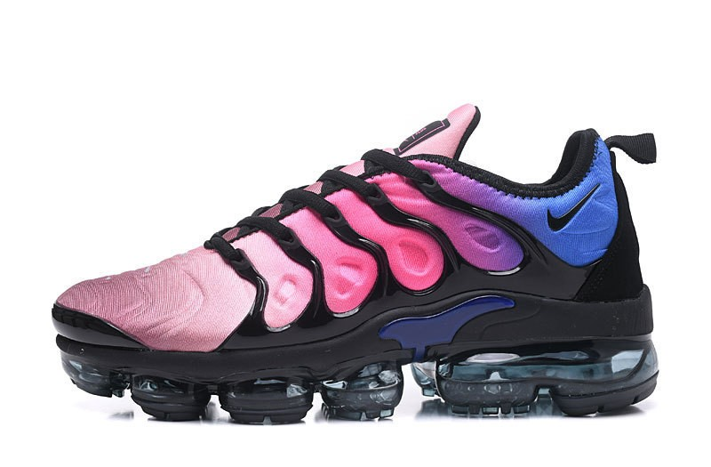 outlet store 60876 8ca9e Nike Air Vapormax Plus Tn Black/Pink Blast-Multi-Color Spectrum Women's  Running Shoes