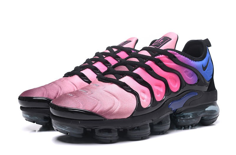 outlet store 63df8 33bbc Nike Air Vapormax Plus Tn Black/Pink Blast-Multi-Color Spectrum Women's  Running Shoes