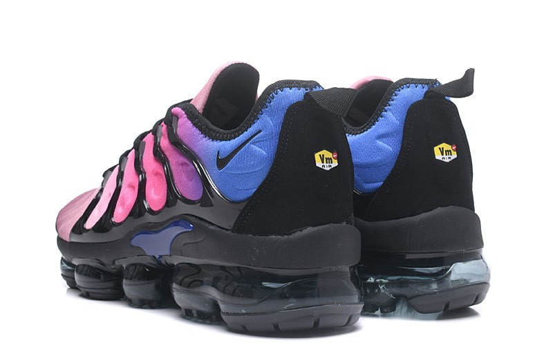 5d5d02f862bd Nike Air Vapormax Plus Tn Black Pink Blast-Multi-Color Spectrum Women s  Running Shoes