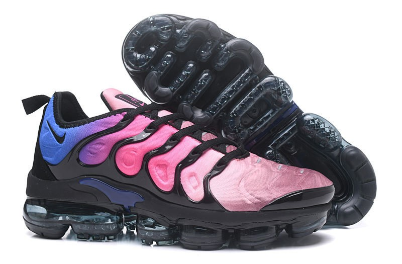 outlet store 29087 5a7a2 Nike Air Vapormax Plus Tn Black/Pink Blast-Multi-Color Spectrum Women's  Running Shoes