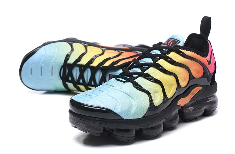 new style 361ca 65bbe Nike Air Vapormax Plus Tn Black/Total Orange-Laser Blue-Pink Women's  Running Shoes Hot Sale