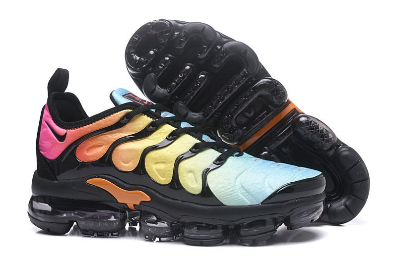 new style 00cd3 89dc9 Nike Air Vapormax Plus Tn Black/Total Orange-Laser Blue-Pink Women's  Running Shoes Hot Sale