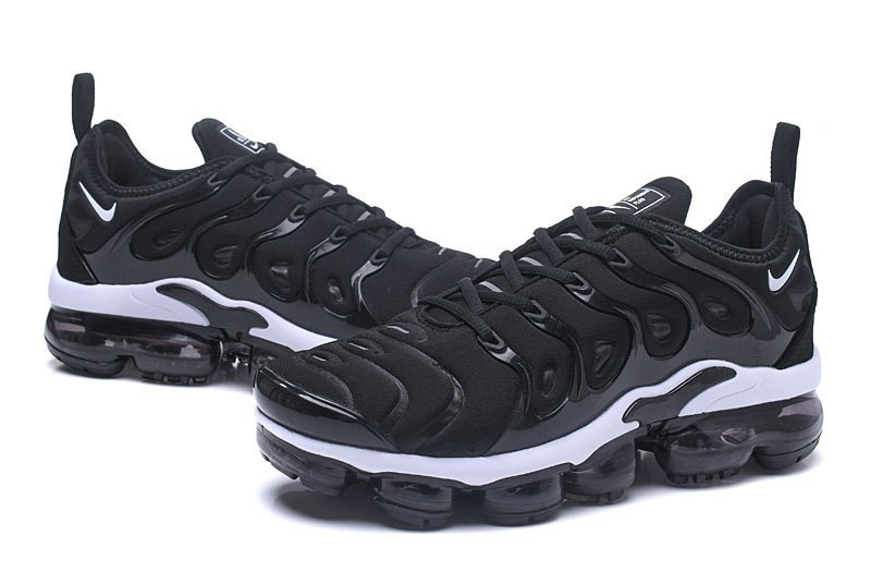 4bc0b59c967 Nike Air Vapormax Plus Tn Men s Black White Classic Running Shoes ...