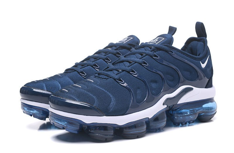 "938167bbf6b Nike Air Vapormax Plus Tn Men s Casual Trainers ""Dark Blue-White"" 2018  Newest Running Shoes"