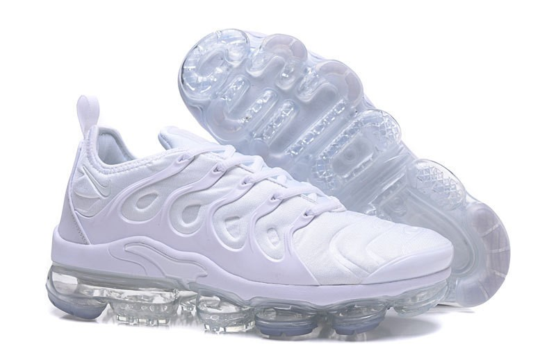 bae704bfe9f8b8 Nike Air Vapormax Plus Tn Men s White White Pure Platinum Running Shoes ...