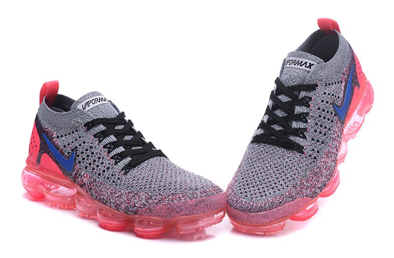 9f475480d68c0 Nike WMNS Air VaporMax Flyknit 2.0 Beautiful Running Shoes 942843-104 Grey  Ultramarine-Hot Punch