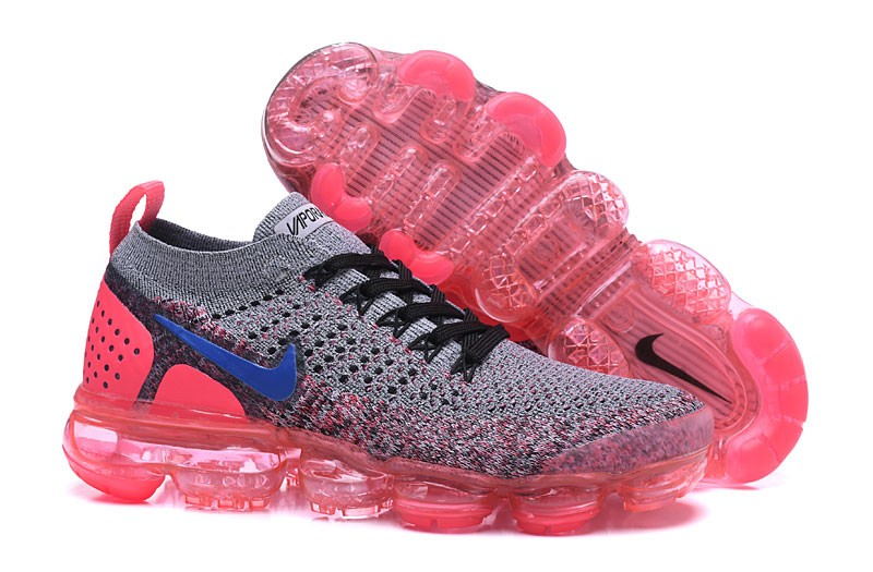 more photos 0bbae 1993c Nike WMNS Air VaporMax Flyknit 2.0 Beautiful Running Shoes 942843-104  Grey/Ultramarine-Hot Punch