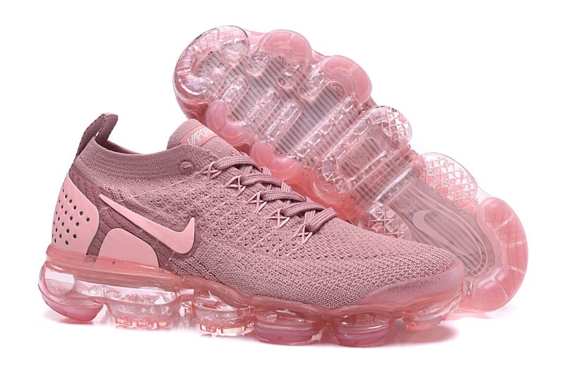 sale retailer 9a446 227fc Nike WMNS Air VaporMax Flyknit 2.0 Running Shoes 942843-500 Sakura Pink  Trainers Hot Selling